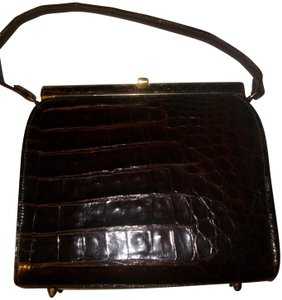 Other Alligator Reptile Crocodile Satchel in Brown