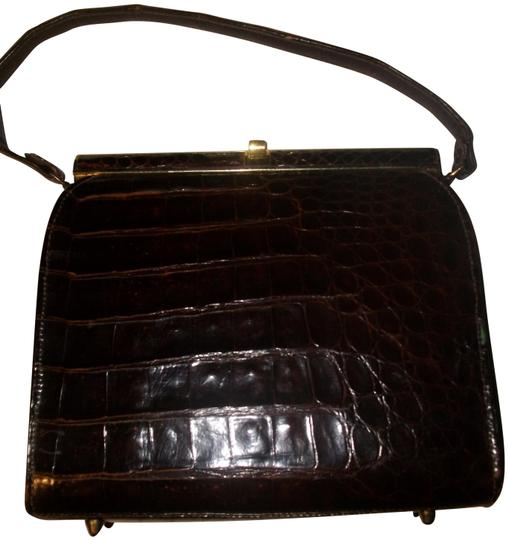 Other Alligator Reptile Crocodile Satchel in Brown Image 0