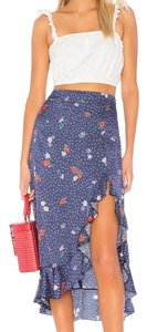 Capulet Date Night Summer High Waisted Floral Skirt Calico