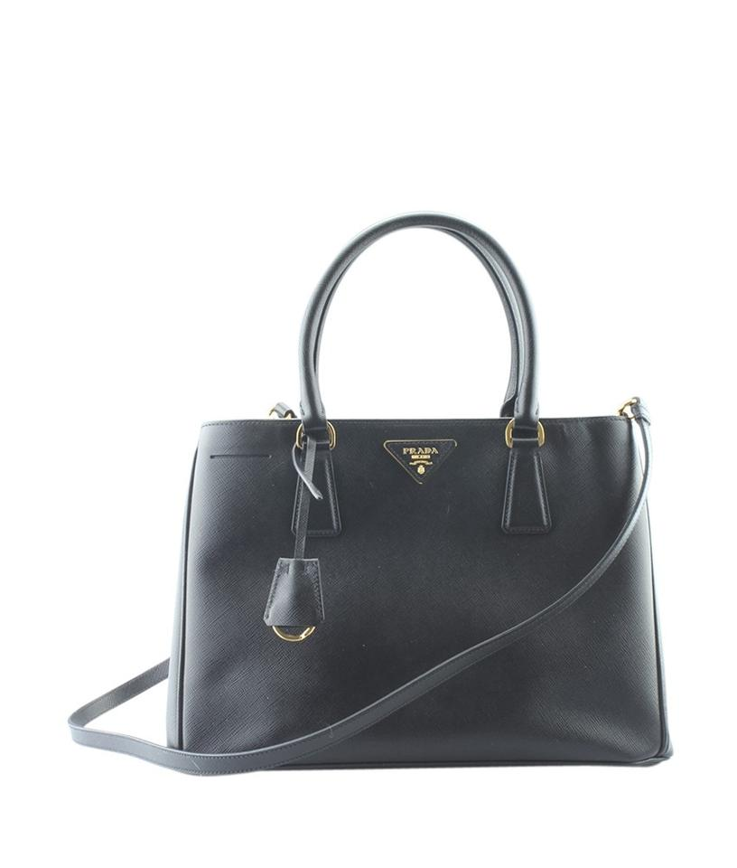 fee4e8a09c39 Prada Lux Bn1874 Saffiano 2-way (164697) Black Leather Tote - Tradesy