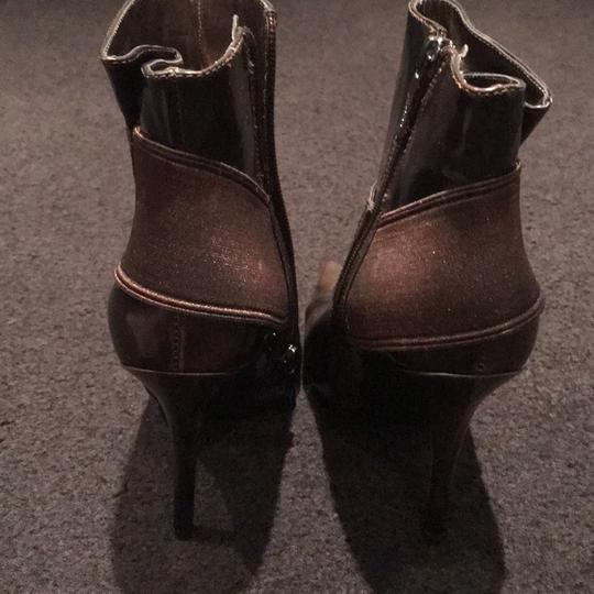 Marciano Stiletto Nightout Brown Patent Boots Image 2