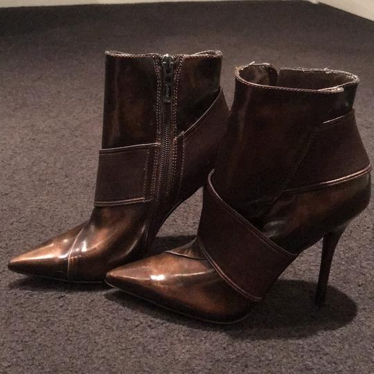 Marciano Stiletto Nightout Brown Patent Boots Image 1
