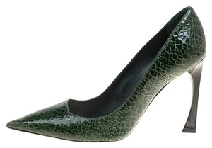 Dior Leather Pointed Toe Green Pumps
