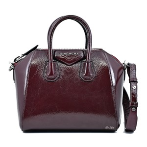 Givenchy Leather Satchel in Aubergine