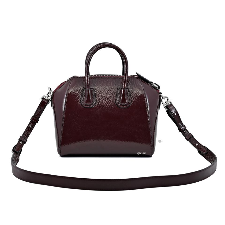 Givenchy Mini Antigona Patent Aubergine Leather Satchel - Tradesy 64d555a7f92e8