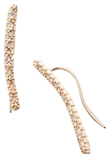 Anthropologie Gold Sparkly Strung Climbers Earrings Anthropologie Gold Sparkly Strung Climbers Earrings Image 1