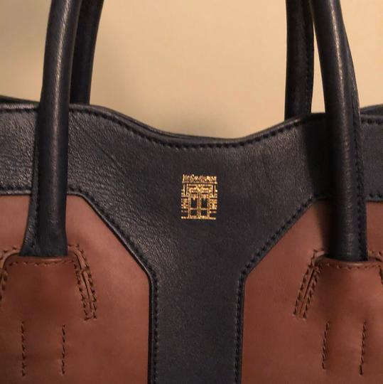 Saint Laurent Tote in Blue and Brown Image 1