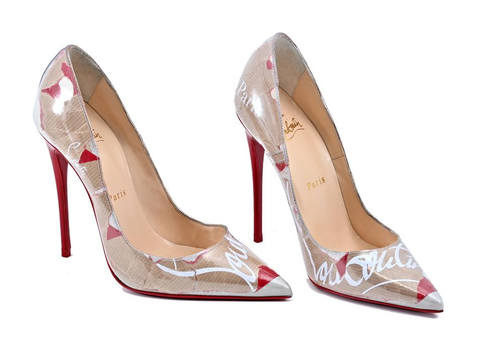 ab9544bc5c8e Christian Louboutin Craft Loubi So Kate 120 Logo-print Pvc Pumps ...