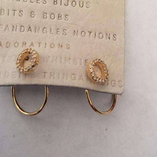 Anthropologie Anthropologie hooped front back earring Image 5