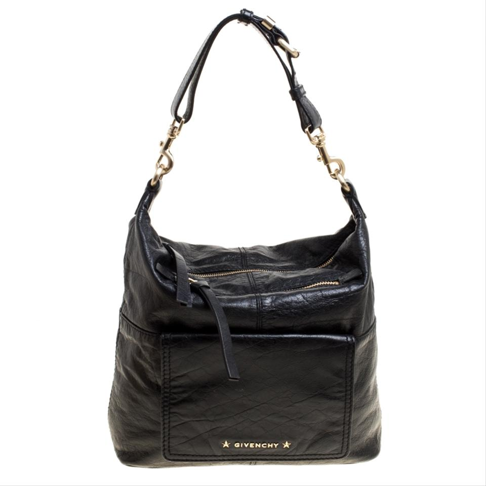 18f78b343e0e Givenchy Black Leather Hobo Bag - Tradesy