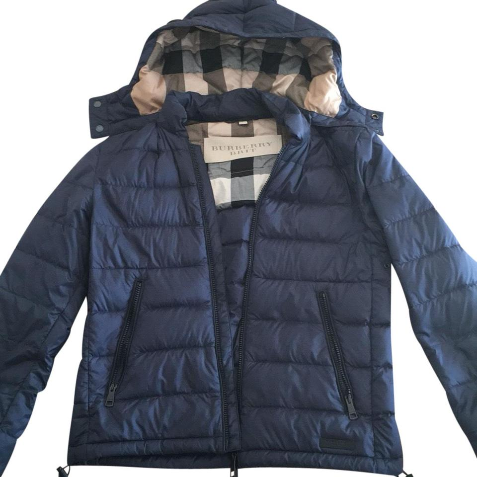 9561cab8109 Burberry Brit Navy Goose Feather Down Jacket For Men Coat Size 4 (S ...