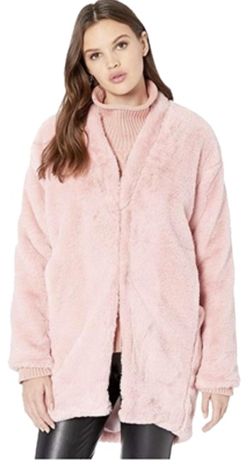 Item - Pink Nevereven Faux-fur Coat with Seamed Jacket Size 8 (M)