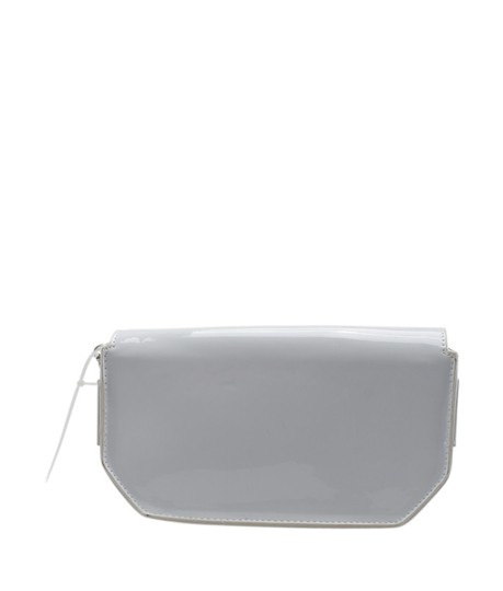 Steve Madden Evening Patent Leather China Xcanvas Silver Clutch Image 4