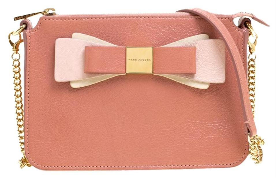585f777002 Marc Jacobs Bubble Gum Bow Chain Pink Leather Cross Body Bag - Tradesy
