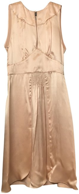 Item - Baby Pink Vintage-inspired Silk Satin Mid-length Cocktail Dress Size 0 (XS)
