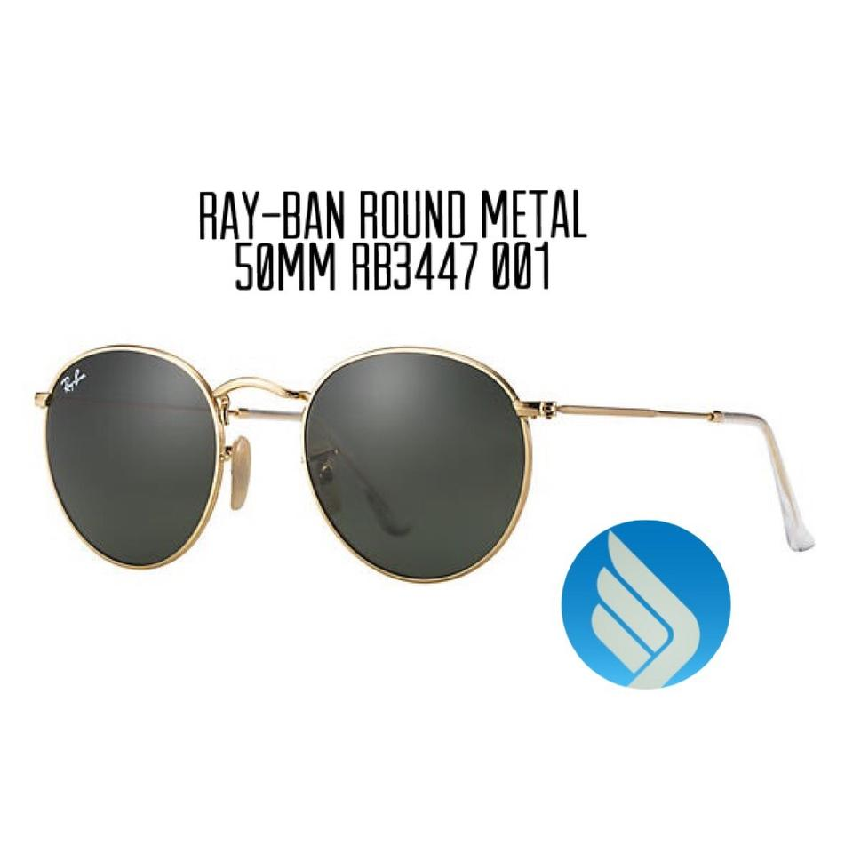 229a2cc3af3c Ray-Ban Gold Round Metal Rb3447 001 50mm G-15 Classic Sunglasses ...