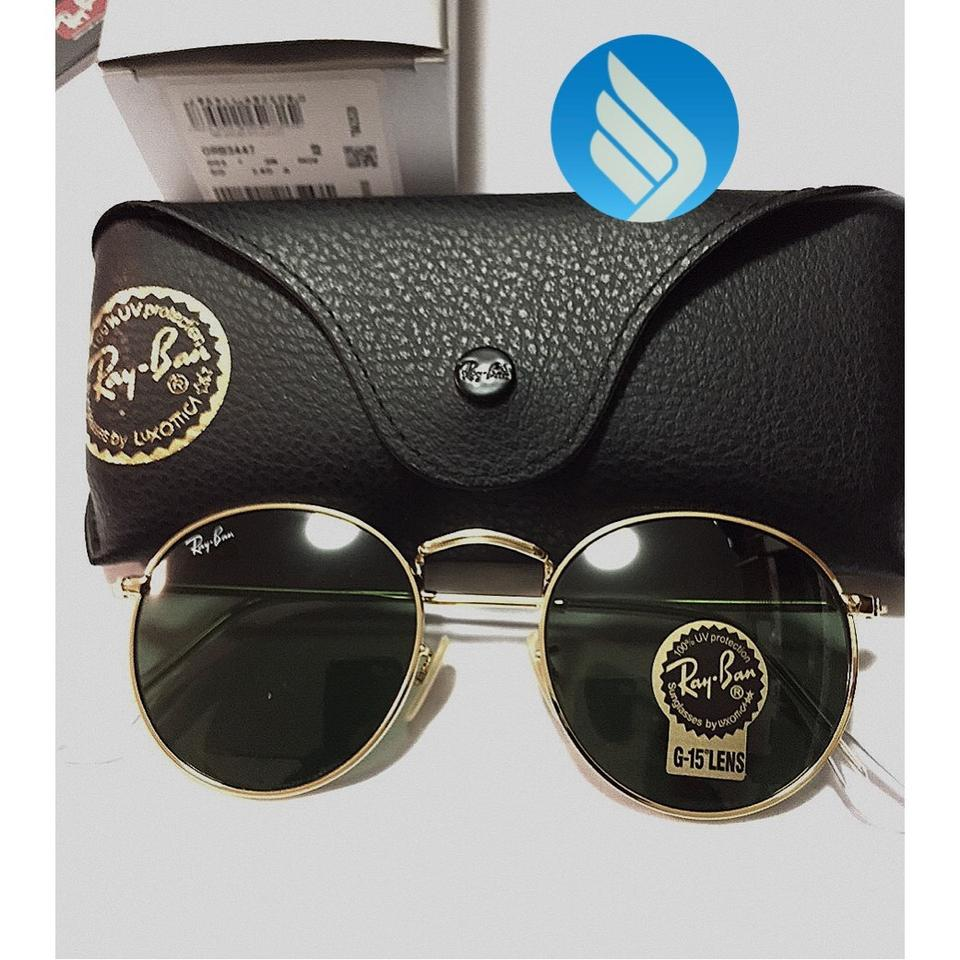 99268ca900 Ray-Ban Gold Round Metal Rb3447 001 50mm G-15 Classic Sunglasses - Tradesy