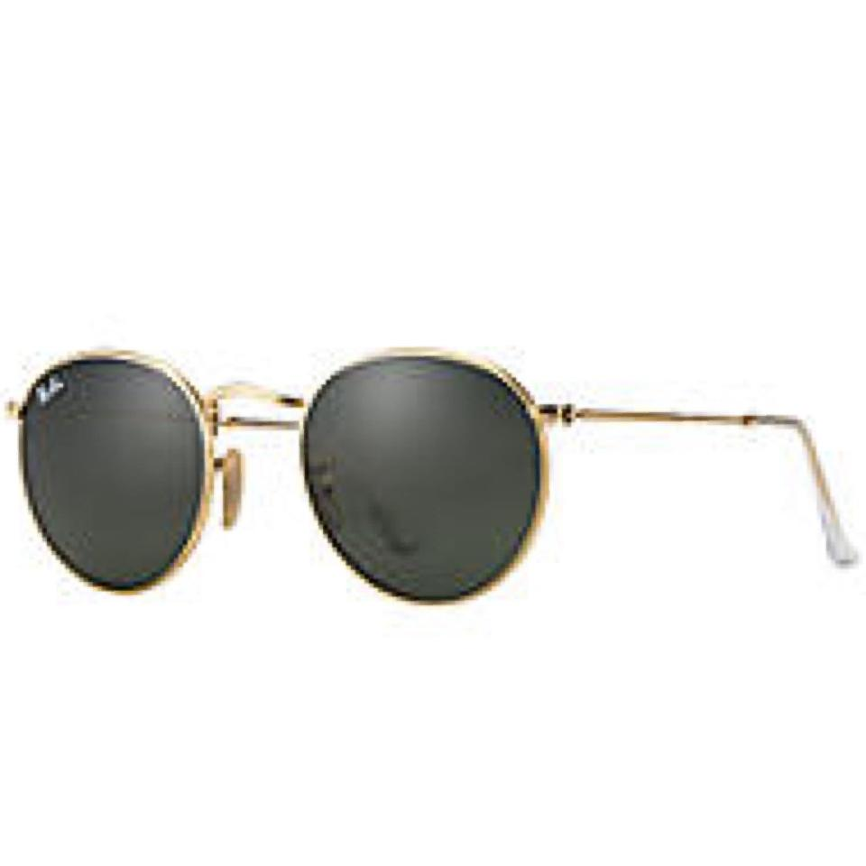 946e30d833 Ray-Ban Gold Round Metal Rb3447 001 50mm G-15 Classic Sunglasses - Tradesy