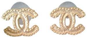 Chanel Chanel Gold CC Stud Earrings