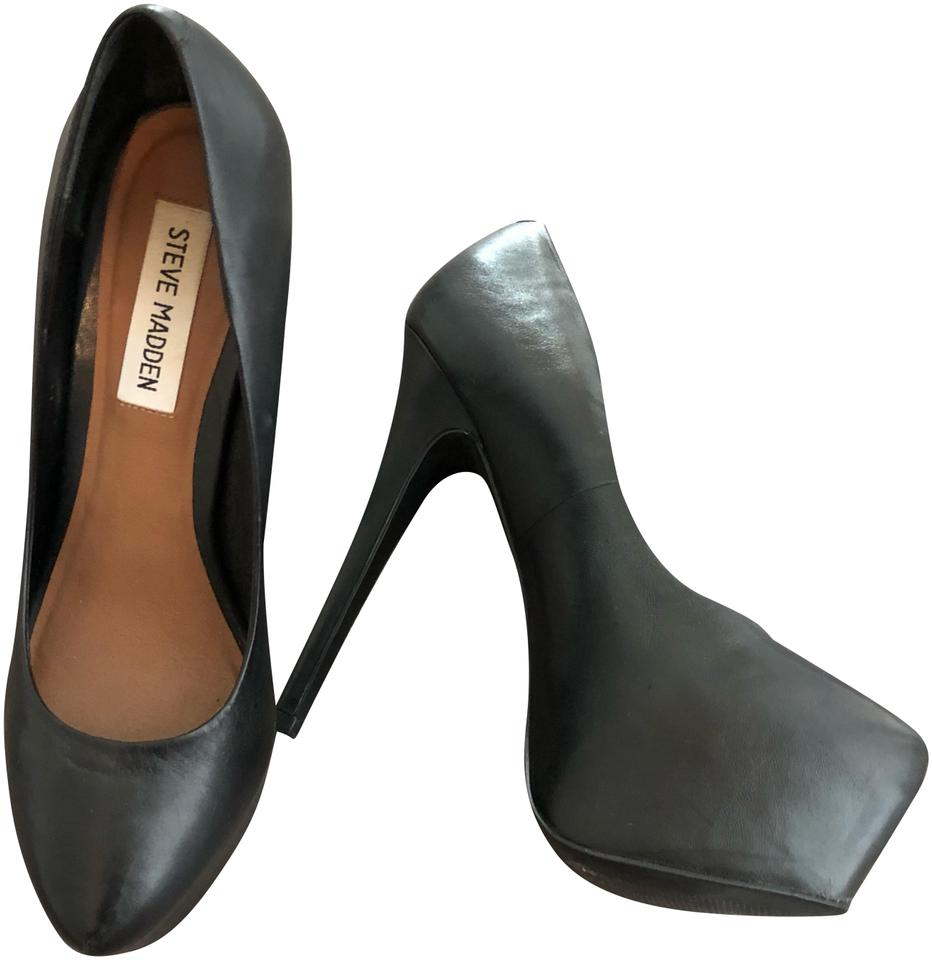 e0bd4df8b4a Black Leather Heels Platforms