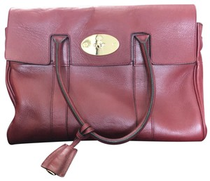 471076f7f4 Mulberry Heritage Leather Satchel in Oxblood Maroon