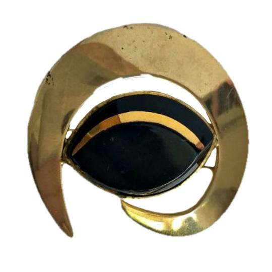 Preload https://img-static.tradesy.com/item/24754389/sarah-coventry-gold-vintage-brooch-pin-50s-1950s-onyx-costume-egyptian-0-0-540-540.jpg