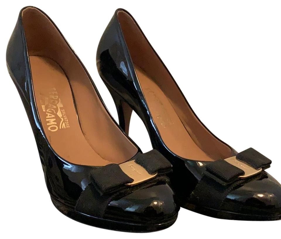 6220082811e3 Salvatore Ferragamo Black Vara Bow Pumps Size US 10 Regular (M