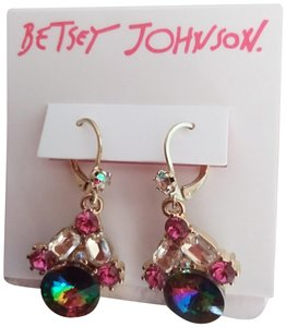 Betsey Johnson Betsey Johnson New Red and Green Cone Earrings