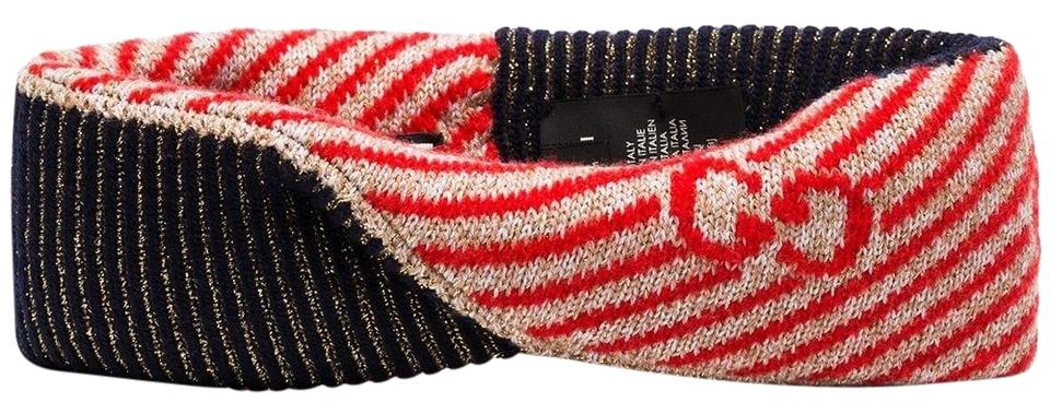 ff1bc64bad4 Gucci Multicolor Red Gg Logo Printed Knit Headband M Hat - Tradesy