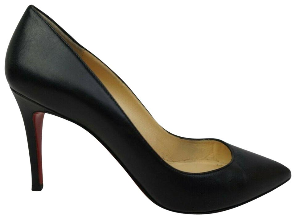 new arrival 0bc17 2c6b1 Christian Louboutin Black Pigalle Follies Leather Pointy Women's Pumps Size  EU 39 (Approx. US 9) Regular (M, B) 36% off retail