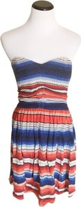 Parker short dress red white and blue on Tradesy