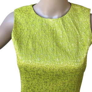 Michael Kors Lime Green Yellow Sleeveless Sheath Dress