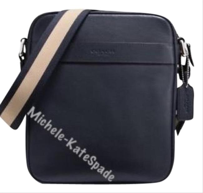 Coach Flight In Smooth F54782 Navy Leather Cross Body Bag Coach Flight In Smooth F54782 Navy Leather Cross Body Bag Image 1