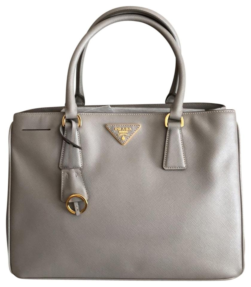 Prada Lux Saffiano Gray Leather Tote - Tradesy f2a698d3fb044