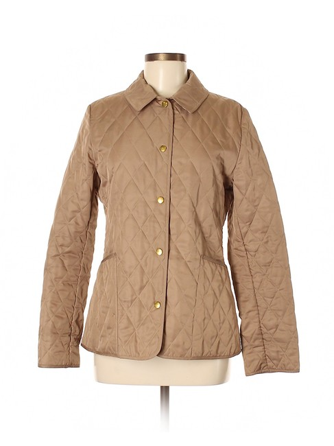 Item - Beige Nova Check Lined Lightweight Quilted Jacket Size 2 (XS)