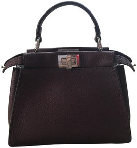 Fendi Mini Peekaboo Peekaboo Selleria Shoulder Bag