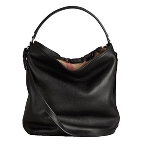Burberry Ashby Check Purse Black Leather Hobo Bag - Tradesy 647376124a7ab
