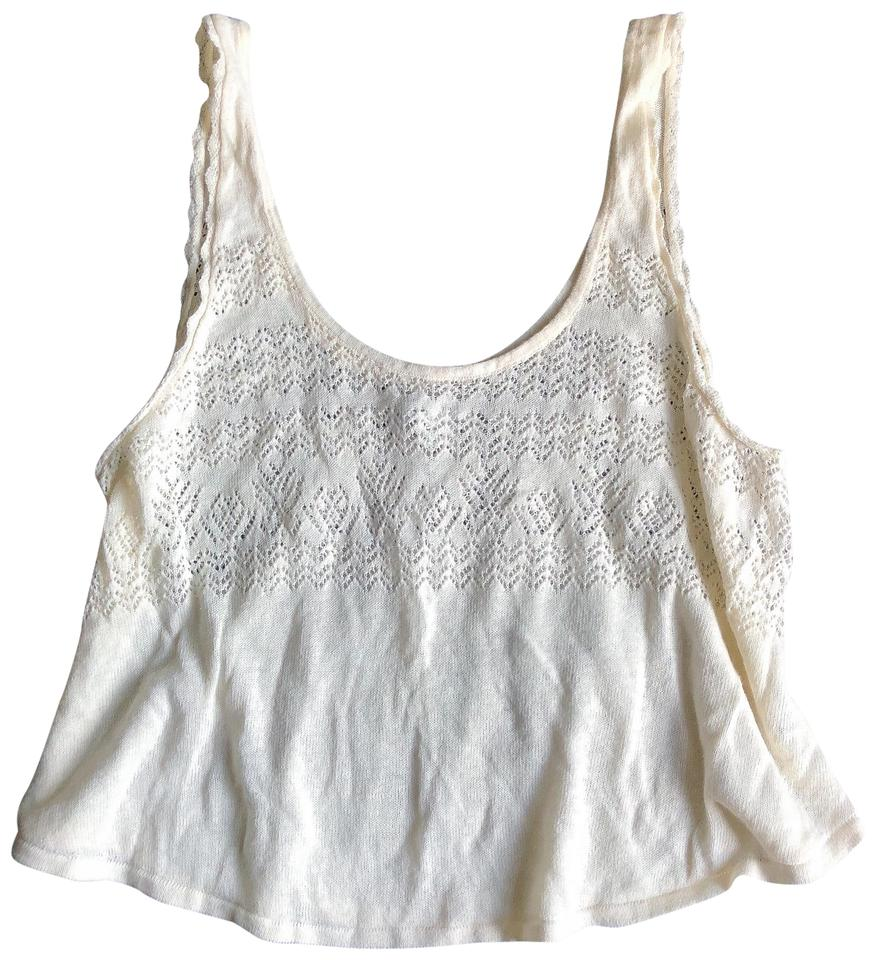 260a076941159 American Eagle Outfitters Ae Aeo Off White Open Knit Tank Top Cami ...
