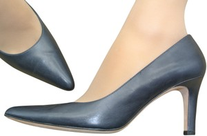 57c3a719771 Brooks Brothers Pointed Toes Leather Mid-heels Blue Pumps