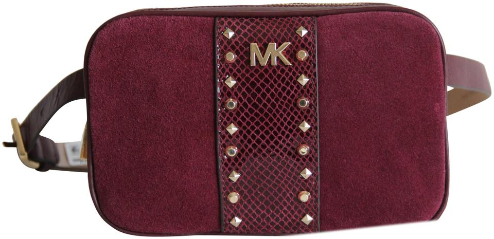 d8734dc5f0f6f2 Michael Kors Michael Kors Studded Leather and Suede Fanny Pack Size S/M  Image 0 ...