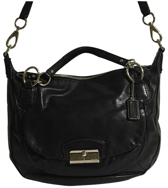 Coach Black Leather Cross Body Bag Coach Black Leather Cross Body Bag Image 1
