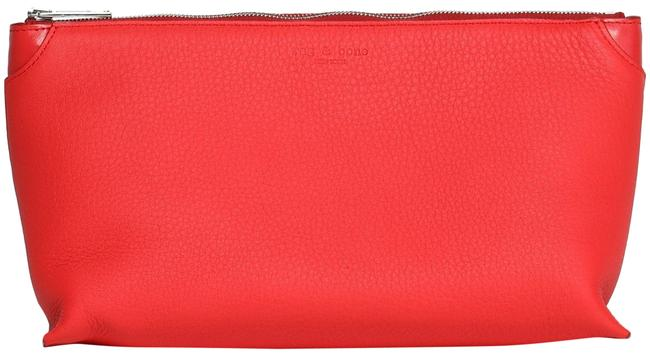 Item - Zipper Pouch Red Calf Hair with Leather Wristlet