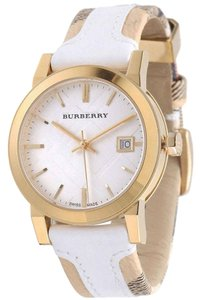 Burberry Women's Large Check Leather Strip On Fabric Watch BU9110
