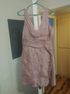 Monique Lhuillier Cationic Chiffon Ruched Sexy Bridesmaid/Mob Dress Size 12 (L)