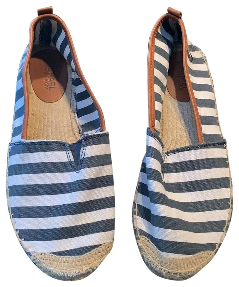 55509eea4eeb Michael Kors Navy Blue and White Slip Ons Flats. Size  US 8 Regular (M ...