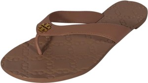 e7adb6372 Tory Burch Nude New Monroe Thong Leather Flip Flops Flop Sandals ...