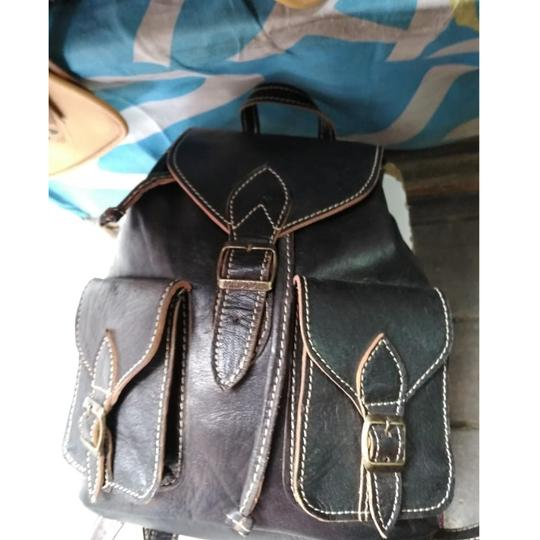 6c62c7e0f0a0 Elegant Handmade Black Made From Balck Leather Backpack - Tradesy