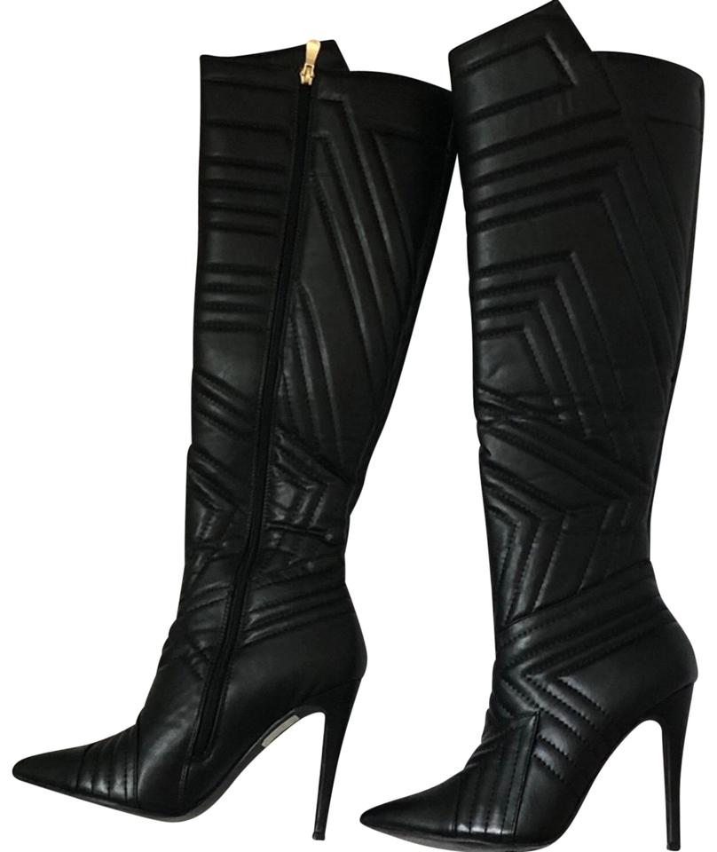 81e88411a076 Forever 21 Black Knee High Boots Booties Size US 9 Regular (M