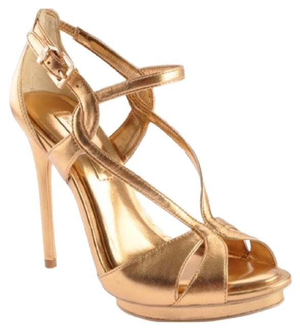 Item - Gold New Bcbg Farid Platform Heels Sandals Size US 10 Regular (M, B)