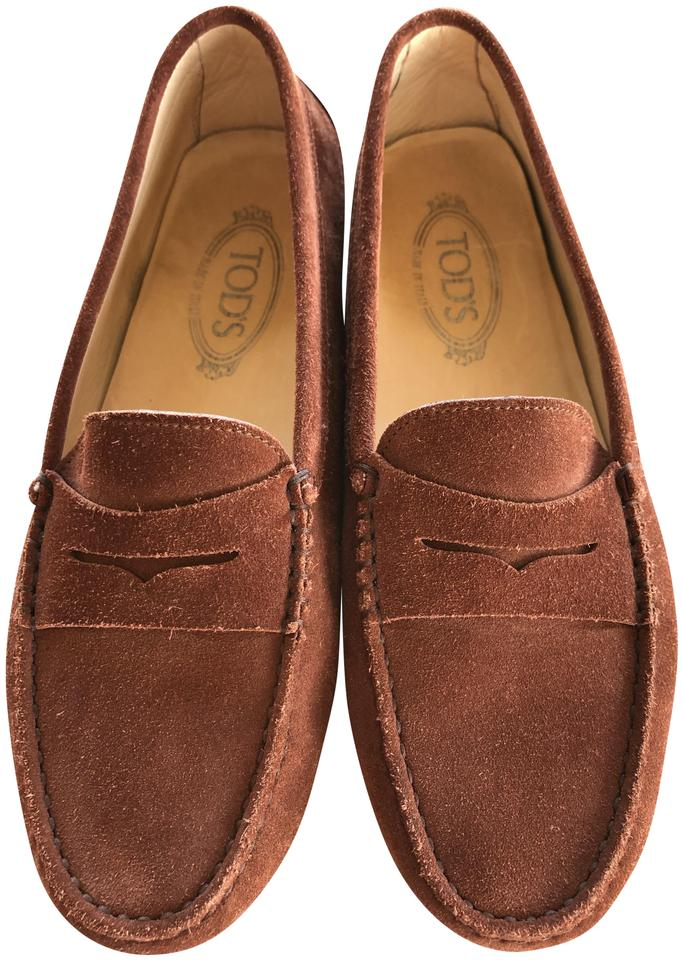 e421113c4b7 Tod s Light Brown (Cocoa) Gommino Suede Driving Flats. Size  EU 40.5 (Approx .